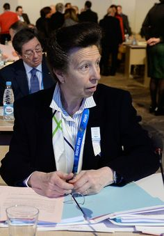 Princess Anne attends the IOC meeting ahead of the Sochi 2014 Winter Olympics at the Radisson Blu 5 Feb 2014