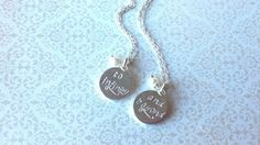 To Infinity....And Beyond..Set of Silver Best Friend Necklaces--Gift For Best Friend
