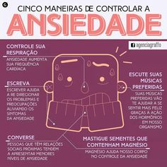 Cinco maneiras de controlar a ansiedade | #saúde #ansiedade #anxiety Mental Health, Health Care, Ways To Lose Weight, Better Life, Healthy Tips, Reiki, Feel Good, Anxiety, Psychology