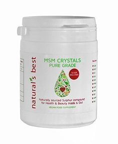 MSM Crystals Pure Grade Sulphur 1kg for inner and outer Health and Beauty •MSM maintain joint and muscle health and comfort •MSM is important for collagen generation and cartilage formation •MSM is excellent for healthy smooth skin, shiny, thicker luxuriant hair •MSM is a great liver detoxifier •Vegan & Cruelty Free •Measuring scoop enclosed Free from: * Sugar * Starch * Salt * Salt * Salt * Yeast * Wheat * Gluten * Maize * Corn * Lactose * Dairy Inner Health and Beauty: MSM is an…