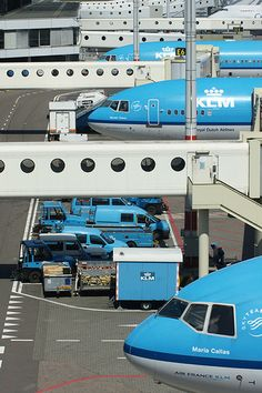"A trio of KLM McDonnell Douglas MD-11 aircraft at Amsterdam-Schiphol, May 2009. From front to back, they are PH-KCG ""Maria Callas"", PH-KCI ""Mother Teresa"" and PH-KCH ""Anna Pavlova""). All were retired in 2012 as part of a major fleet renewal that included the phasing out of all MD-11 aircraft by October 2014. The type is now used only on services to Montréal (1 daily) and San Francisco (4-6 weekly)."