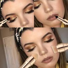 4 In 1 Makeup Brushes Foundation Eyebrow Shadow Eyeliner Blush Powder Brush Cosmetic Concealer Professional Maquiagem Eyebrow Brush, Contour Brush, Lip Brush, Contour Makeup, Blush Brush, Makeup Brush Set, Eye Makeup, Face Contouring, Concealer Brush