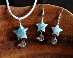 Origami Star Earring and Necklace/Pendant by NicoleWongCreations, $35.00