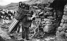 Tour Scotland Photographs: Old Photograph Crofter Cottage Isle Of Skye Scotland