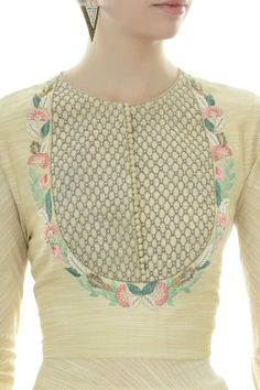 Awesome Most Popular Embroidery Patterns Ideas. Most Popular Embroidery Patterns Ideas. Embroidery Suits Design, Hand Embroidery Designs, Embroidery Dress, Embroidery Patterns, Zardozi Embroidery, Neck Designs For Suits, Dress Neck Designs, Sleeve Designs, Neckline Designs