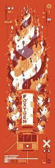 Foxygen- Lincoln Hall Gig Poster