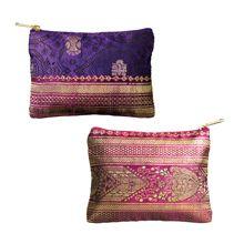 Cute! Sari Purses, made from authentic Bangladeshi hand loomed sari fabric. From Swajan, Bangladesh.