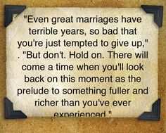 This is so true! You come out of it stronger, closer, with a deep, deep sense of what it truly means to be married & knowing together you can weather any storm.