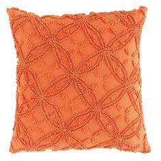 Orange Decorative Pillow in Choice of Size