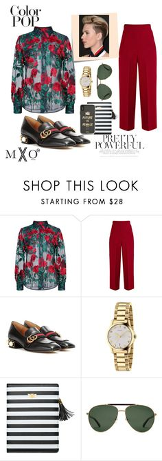 """The menswear editor aka (badass)"" by dubldare ❤ liked on Polyvore featuring Adam Selman, Roland Mouret, Gucci, Sonix, Post-It and statementpiece"