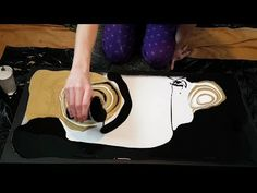 "Black, White & Gold - 30""×15"" - Fluid Painting - YouTube"
