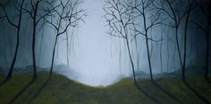 Evening Forest x Acrylic on Canvas Pear, That Look, Canvas, Prints, Pictures, Blue, Painting, Tela, Photos