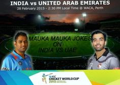 "Watch Mauke Pe Chauka Video ""India vs UAE Match Preview"" #maukamauka #CWC2015"