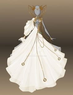 Auction - The Queen's Wedding (closed) by Moryartix Dress Drawing, Drawing Clothes, Fashion Design Drawings, Fashion Sketches, Queens Wedding, Fantasy Gowns, Illustration Mode, Anime Dress, Dress Sketches