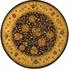 Shop for Safavieh Handmade Antiquities Mashad Black/ Ivory Wool Rug (6' Round). Get free shipping at Overstock.com - Your Online Home Decor Outlet Store! Get 5% in rewards with Club O!