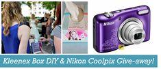 Kleenex Box DIY mit Nikon Coolpix Give-away