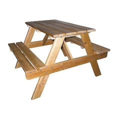 Ore International Indoor-Outdoor Picnic Table - Natural