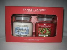 Yankee Candle Company Winter Holiday Jar Candle Set - Gift Box of TWO! Winterland and Hollyberry by Yankee Candle. $49.99. Genuine Yankee Candles - the best in the business!. Boxed Gift Set. Includes TWO 14.5 ounce Jar Candles. Each candle has a 65-90 hour burn time. Boxed gift set with 2 Jar candles in a decorative gift box. Scents include Winterland and Hollyberry.