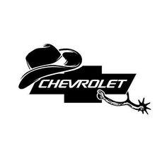Cowboy Hat, Chevy, Spurs, Chevrolet Decal 0098 U003eu003eu003e Check Out This