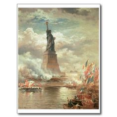 Statue of Liberty, New York circa 1800s Postcards