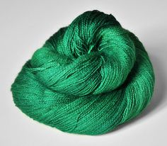"""""""absinth"""" intense green lace yarn (brighter color for cardigan... maybe not bright enough?"""