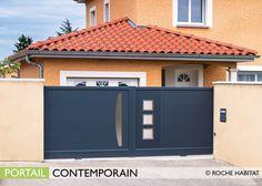 Portail Contemporain Cette gamme allie la robustesse et la qualité des portails  aluminium haut de gamme b36185b61170