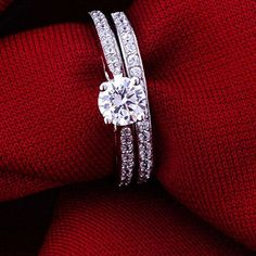 2Pcs/set Engagement Ring