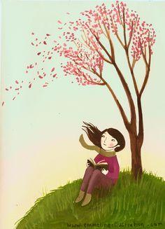 Spring book girl Emmeline Pidgen