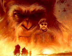 """Check out new work on my @Behance portfolio: """"War for the Planet of the Apes"""" http://be.net/gallery/53784193/War-for-the-Planet-of-the-Apes"""