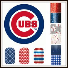 Batter up Chicago Cubs fan with Jamberry nail wraps.