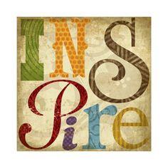 Inspire Print by Suzanna Anna at eu.art.com