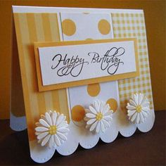 Oh my goodness!  LOVE this!  Yellow daisies.  Sunny and happy card!