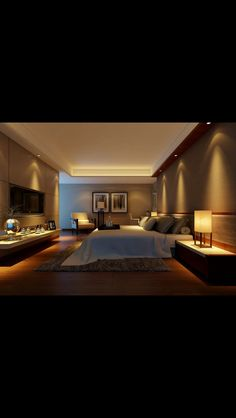 Bedroom lighting can range from basic to bold, and dimmed to dramatic. No matter what, lighting is a key player in your bedroom design. Bedroom lighting inspiration for your sleeping accommodation. Look at our best bedroom interior ideas. Romantic Bedroom Lighting, Romantic Master Bedroom, Warm Bedroom, Master Bedroom Design, Home Decor Bedroom, Bedroom Ideas, Romantic Bedrooms, Bedroom Inspiration, Bedroom Wall