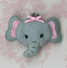 carita de elefante de fieltro
