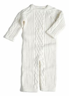 Cable Layette, in Ivory   EGG Baby by Susan Lazar   www.egg-baby.com