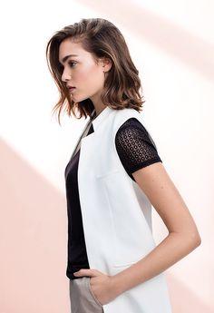 Key look: the sleeveless blazer.