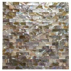 """Art3d 6-Pack Peel and Stick Mother of Pearl Shell Tile for Kitchen Backsplashes, 12"""" x 12"""" Coloful Taxtures"""
