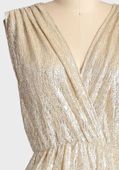 Spark Of Light Metallic Maxi Dress | Modern Vintage Dresses