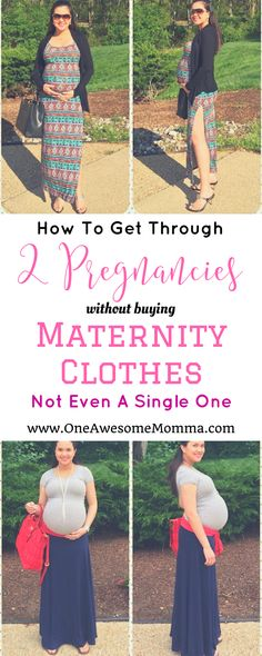 How did I manage to get through 2 pregnancies without buying maternity clothes? All it took was creativity with my outfits! Click on the image to learn more. | pregnancy | pregnancy fashion | pregnant | pregnant fashion | pregnant outfits | maternity clothes | maternity fashion | maternity clothes summer