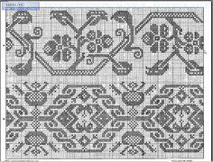 Gallery.ru / Фото #16 - Kreuzstich-3-1,2 - livadika Cross Stitch Borders, Cross Stitch Designs, Cross Stitching, Cross Stitch Embroidery, Cross Stitch Patterns, Thread Crochet, Filet Crochet, Knitting Charts, Knitting Patterns