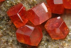 Vanadinite  Photo Copyright © 2006 by Dominik Schläfli. All rights reserved.  - This image is copyrighted. Unauthorized reproduction prohibited.  Locality: Apache Mine (Defiance Mine; Defiance Lead Mine; Apache Vanadium Mine; Defiance vein; Vanadium shaft), Radium, Burch area, Globe Hills, Globe Hills District, Globe-Miami District, Gila Co., Arizona, USA  Image is 4.5 mm wide.