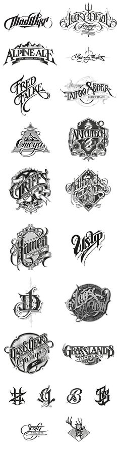 Hand-drawn logotypes, marks, and custom letterings by Martin Schmetzer. Martin…
