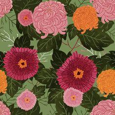 101florals: Olivia Mew: Chrysanthemum Kaleidoscopes
