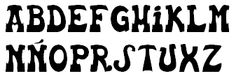 Traditional Basque font