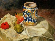 Cezanne Natura morta con maiolica italiana