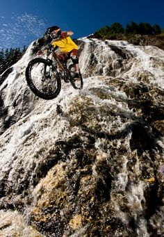 #bike #mtb #downhill Waterfall? Why not?