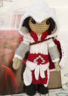 Ezio Auditore Firenze, as he appears in Assassin's Creed Brotherhood !  once again I have the daggers from Cluedo standing in as Hidden Blades :)  https://www.etsy.com/listing/106170246/ezio-auditore-firenze-as-he-appears-in