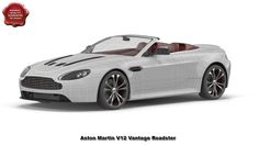 3d model of Aston Martin V12 Vantage Roadster by 3d_molier International