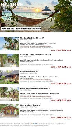 Paradisul din MALDIVE - pachete cu plecare din Bucuresti la tarife de nerefuzat!
