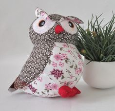Patchwork Animated Soft Toy (OWL)